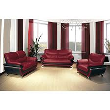 European Alicia Red Black Piece Modern Sofa Set Sofa Set - Black modern living room sets