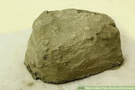how to make fake rocks with concrete with pictures wikihow