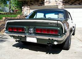 1968 mustang rear end highland green 1968 ford mustang gt california special hardtop