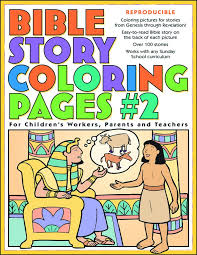 bible story coloring pages 2 gospel light 9780830730957 amazon