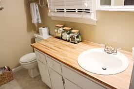bathroom counter top ideas mess makeover bower power