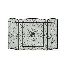 fireplace mesh screen rod