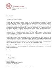 letter of recommendation professor harry kaiser cornell university