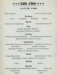 a thanksgiving dinner menu from 1899 ephemeral new york
