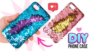 diy amazing viral color changing phone case diy mermaid sequin