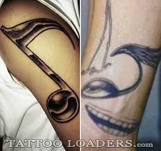 guitar of musical notes tattoo tattoo design cool of the best