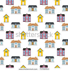 set urban suburban cottage style residential stock vector