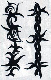 black barb wired temporary tattoo tattoomagz