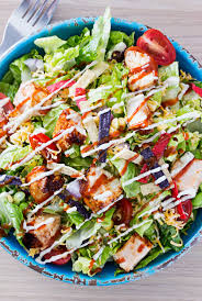 grilled bbq chicken salad the chunky chef