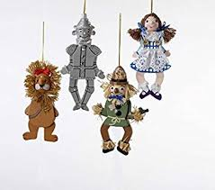 4 5 6 wooden wizard of oz puppet ornament set of 4