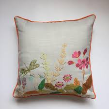Pillow Covers For Sofa by Lotus Animal Linen Cushion Covers Embroidered Chinese Sofa Cushion