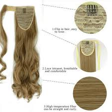 24 inch extensions online shop snoilite 24inch synthetic curly ponytail clip in