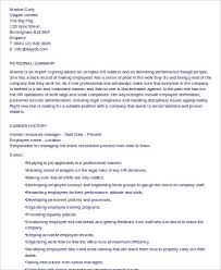hr manager resume resume hr manager legal admin consultant mba