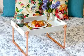 breakfast in bed tray from copper pipe the home depot