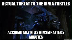 Ninja Turtles Meme - actual threat to the ninja turtles funny ninja meme picture