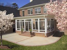 Front Porches On Colonial Homes by Enclosed Porch Outside View Many People Use Sunrooms To Extend