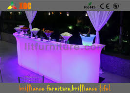 Led Outdoor Furniture - outdoor indoor glowing led bar counter illuminated bar furniture