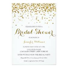 wedding shower invitations glitter bridal shower invitations announcements zazzle