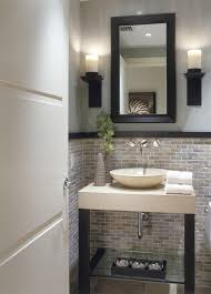 lowes tile saw powder room transitional with black wood trim glass