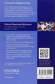 a dictionary of chemical engineering oxford quick reference