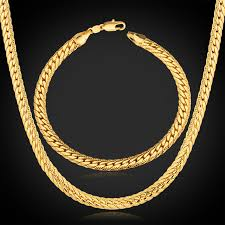 aliexpress buy new arrival 18k real gold plated aliexpress buy jewelry sets gold chain necklace bracelet men