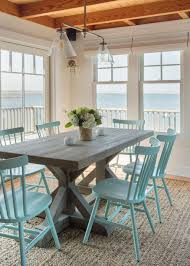 coastal dining room with beachy blue ideas and turquoise kitchen