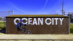 public art projects downtown ocean city md ocdc a skateboarder on a painted wall mural