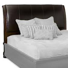 King Bed Leather Headboard by Bernhardt Belmont California King Size Leather Upholstered Sleigh