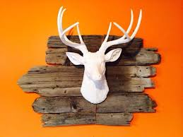 Home Interiors Deer Picture White Deer Head Wall Decor Modern Home Ideas Stag Wall Decor