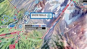 Giant Map Giant Snow Walls Whistler Blackcomb