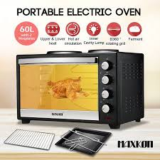 Portable Toaster Oven Maxkon 60l Portable Oven Electric Convection Toaster With