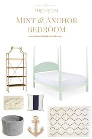 coastal interiors mint bed and anchor bedroom u2014 coastal