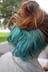 dye bottom hair tips still in style bun pretty hair dyed hair blue hair messy bun blue dye i like how