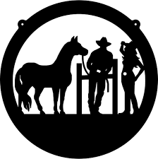cowboy cowgirl silhouette clipart