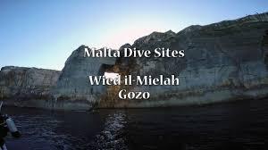 malta dive sites wied il mielah youtube