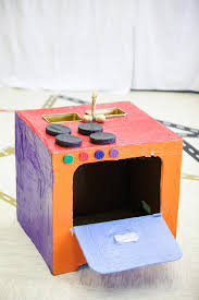 fourneau de cuisine fourneau de cuisine de bricolage fait à partir de la boîte de