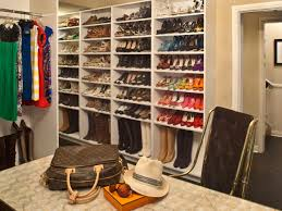 Diy Build Shelves In Closet by Shoe Shelves For Closets Hgtv