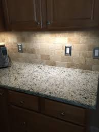 kitchen tumbled travertine backsplash for the home pinterest white