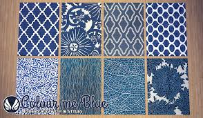 Blue Contemporary Rugs Simsational Designs Colour Me Blue Modern Rugs
