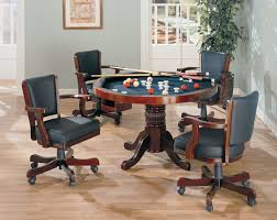 Poker Dining Room Table Coaster 100201 Game Table Set Merlot 100201 100202 Game Table