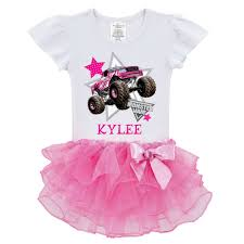monster jam boys madusa pink tutu shirt ty u0027s toy box