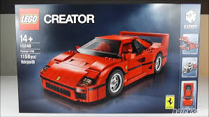lego ferrari f40 lego 10248 ferrari f40 creator expert review deutsch youtube