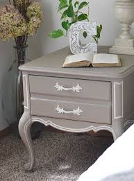 French Style Furniture by French Nightstand Bedside Table Makeover French Style And Chalk