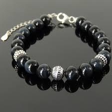 silver energy bracelet images Blue tiger eye silver yoga pilate energy chakra bracelet jpg