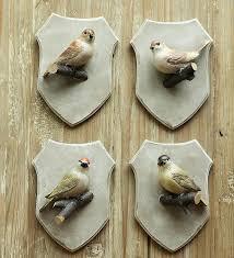 nordic country home decor bird wall coat rack creative wall hook