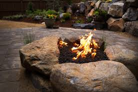 Paver Patios With Fire Pit by Paver Patio U0026 Gas Fire Pit In Nw Bend Oregon