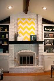 great painted white brick fireplace suzannawinter com