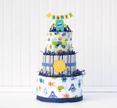 diaper cake for little monster baby shower halloween baby shower