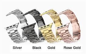 rose gold stainless steel bracelet images For apple watch band 42mm black gold stainless steel bracelet jpg