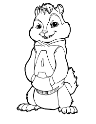 coloring pages alvin chipmunks animated movie 2 3